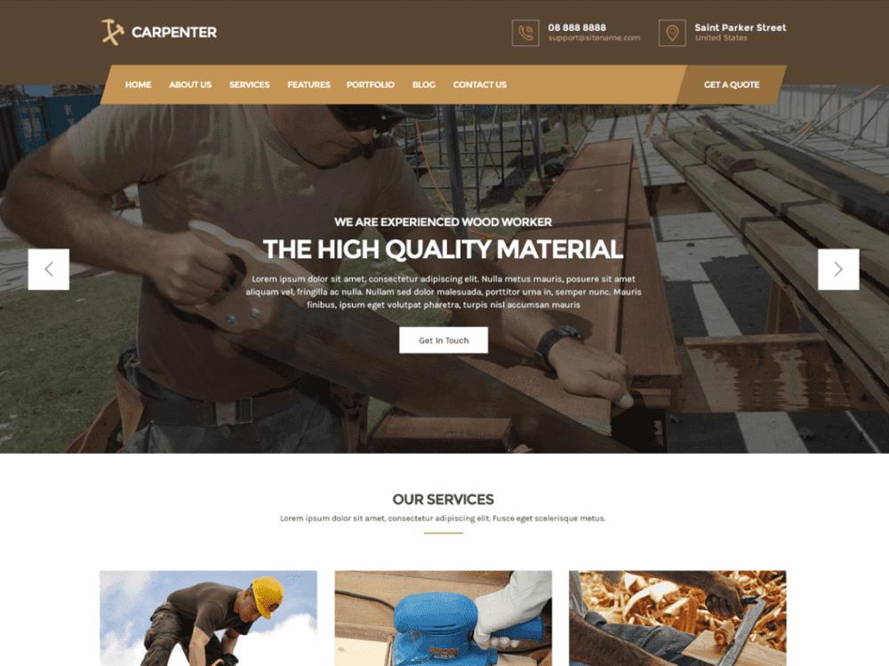 Free Carpenter Lite WordPress theme