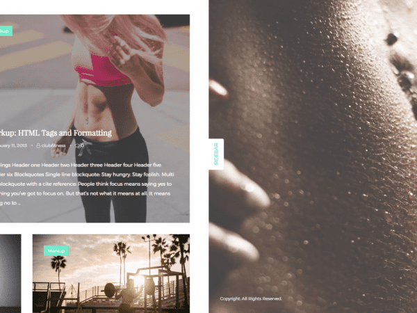 Free ClubFitness WordPress theme