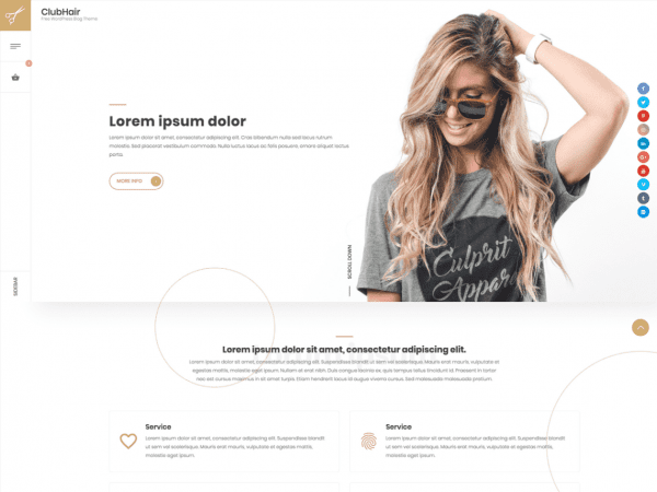 Free ClubHair Wordpress theme
