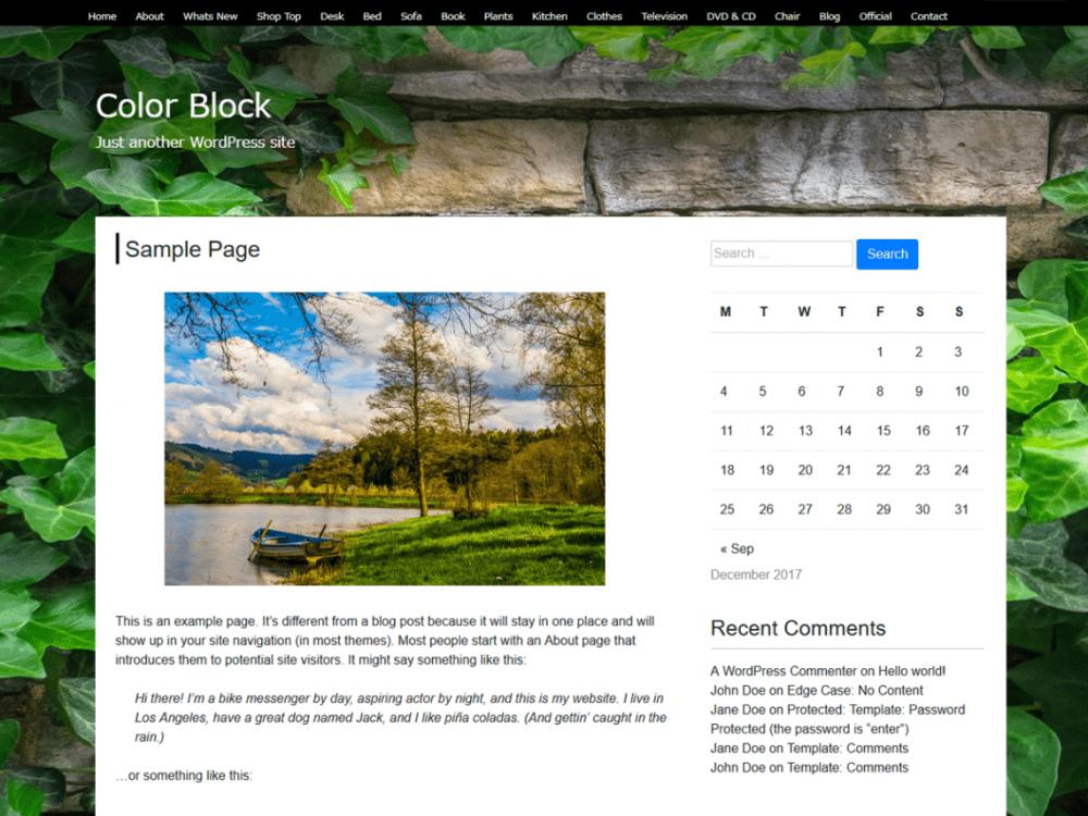 Free Color Block WordPress theme