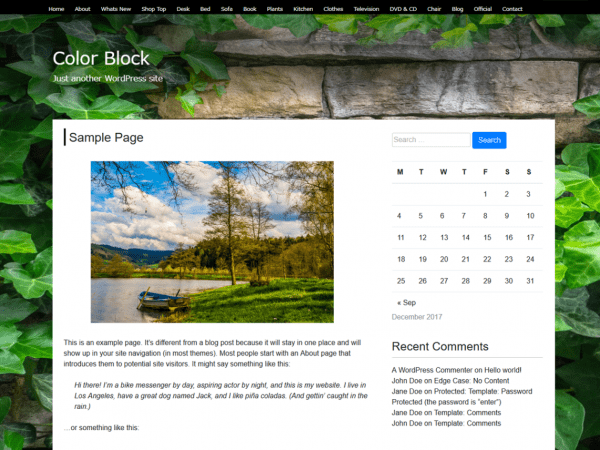 Free Color Block WordPress theme