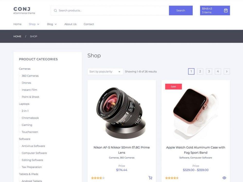 Free Conj Lite WordPress theme