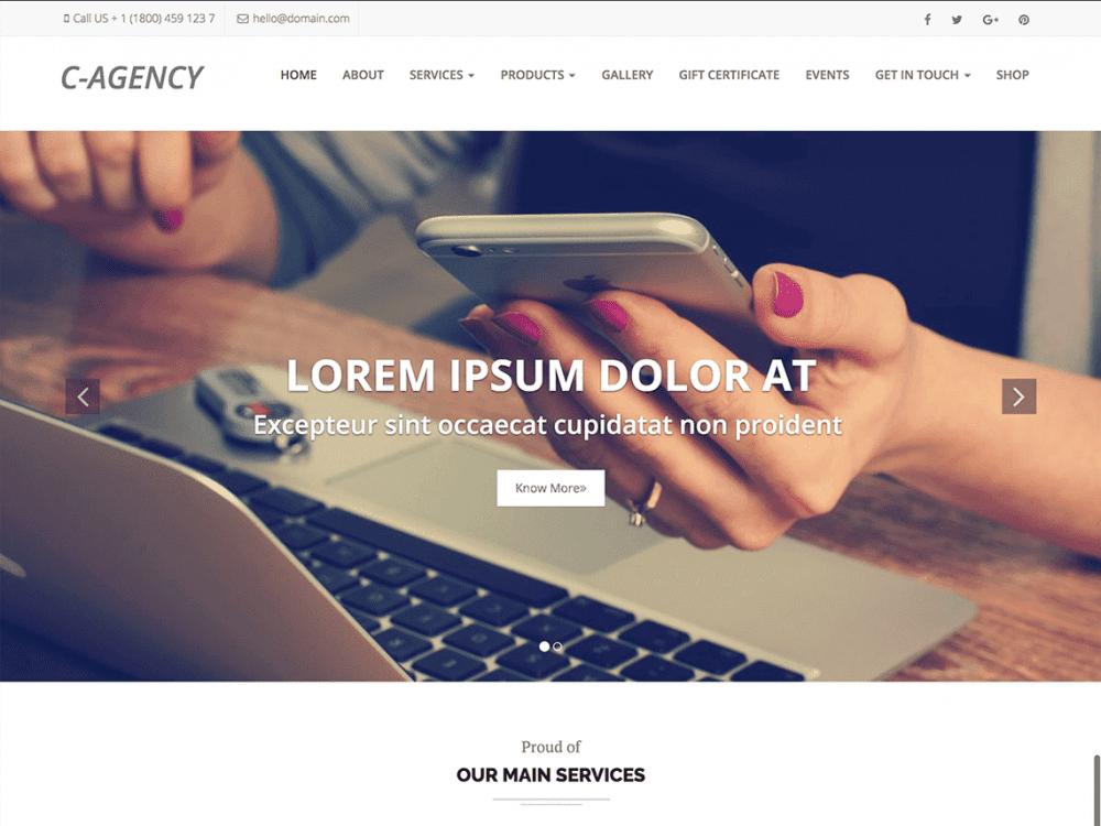 Free Corporate Agency WordPress theme