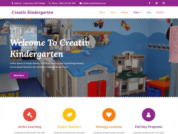 Free Creativ Kindergarten WordPress theme