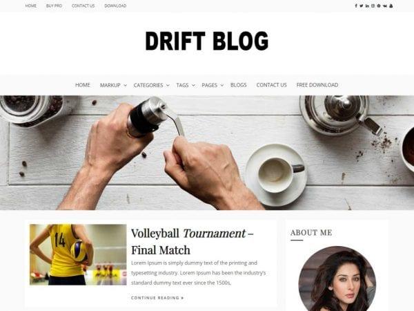 Free Drift Blog WordPress theme