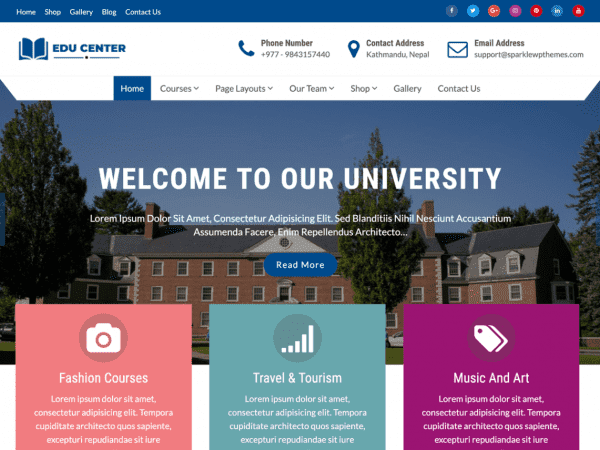 Free Education Xpert WordPress theme