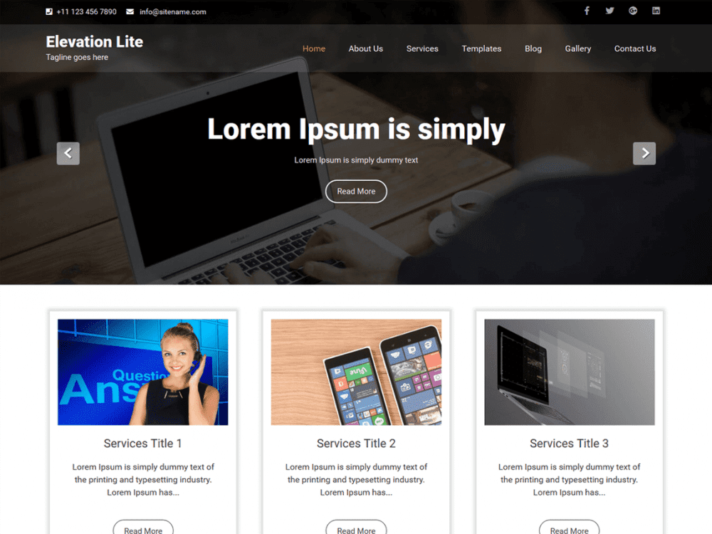 Free Elevation Lite WordPress theme