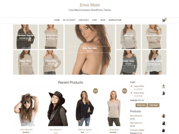 Free Envo Store WordPress theme