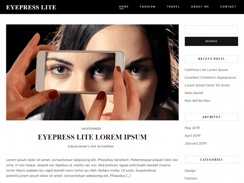 Free Eyepress Lite WordPress theme