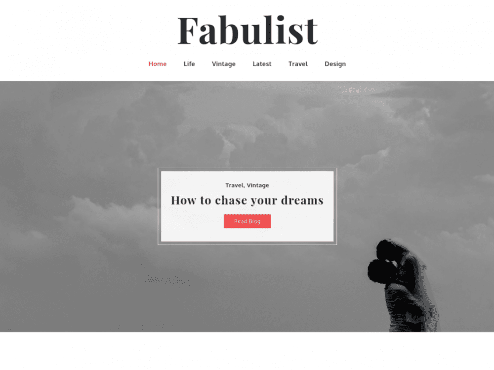 Free Fabulist WordPress theme
