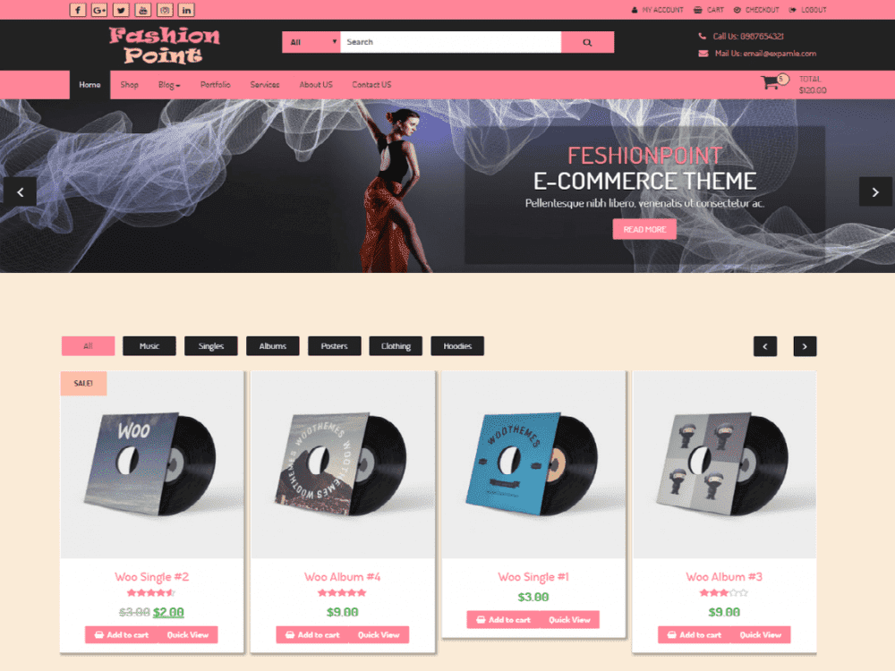 Free FashionPoint WordPress theme