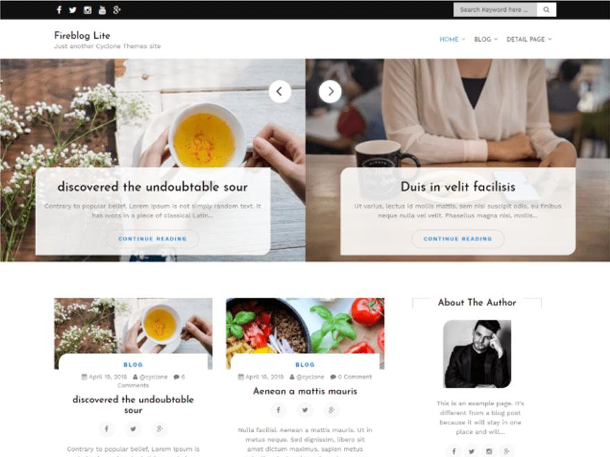 Free Fire Blog WordPress theme