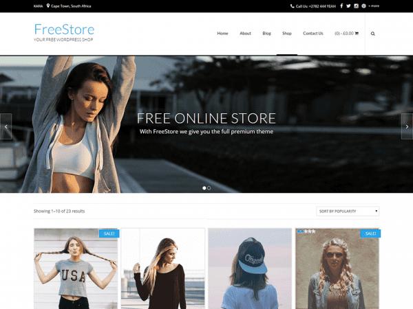 Free FreeStoreWordPress theme
