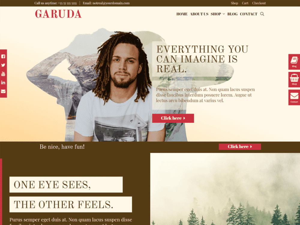 Free Garuda WordPress theme