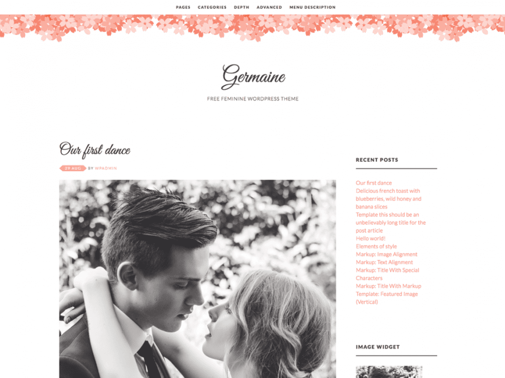 Free Germaine WordPress theme