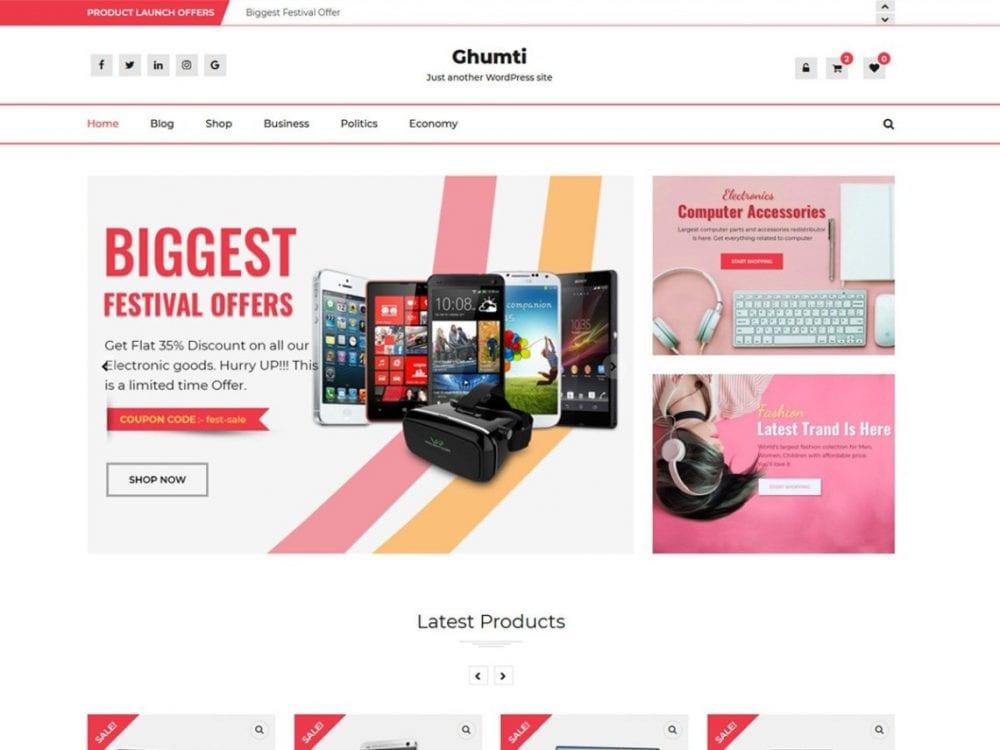Free Ghumti WordPress theme