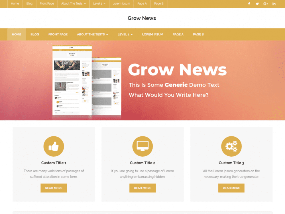 Free Grow News WordPress theme