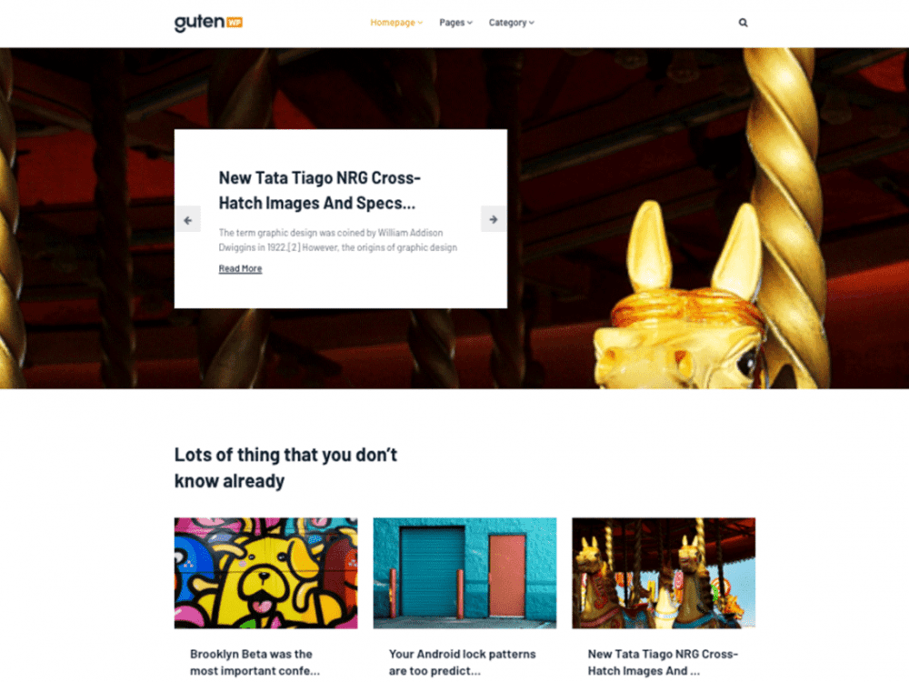 Free Gutenwp WordPress theme