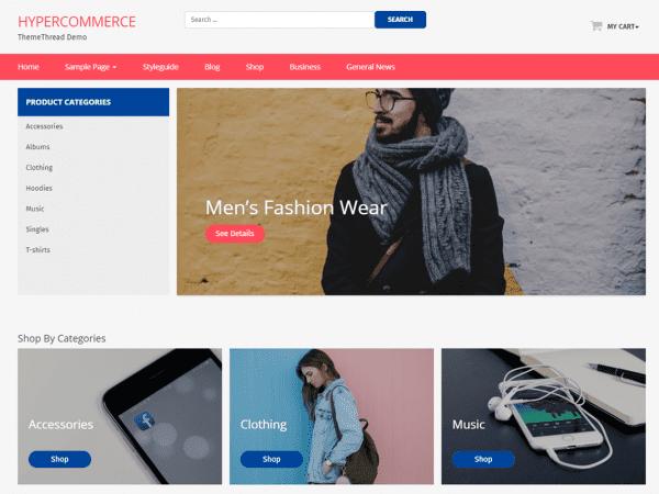 Free Hyper Commerce WordPress theme