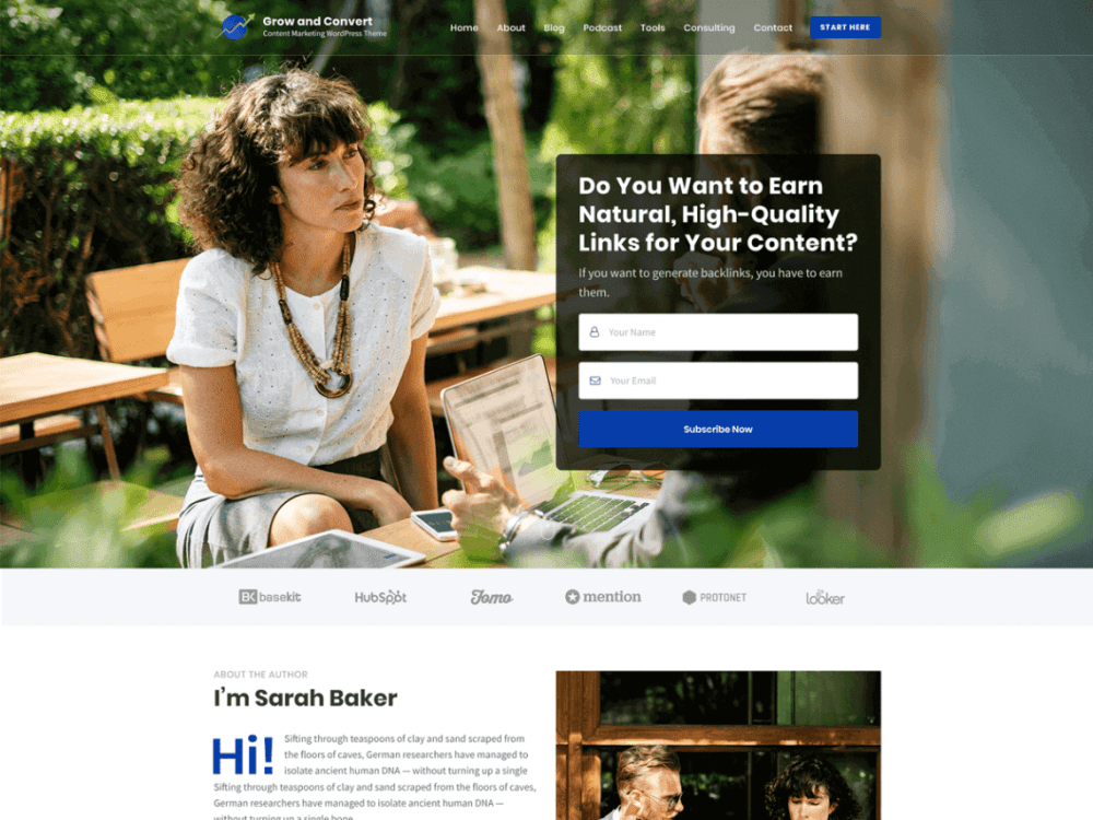 Free Influencer WordPress theme
