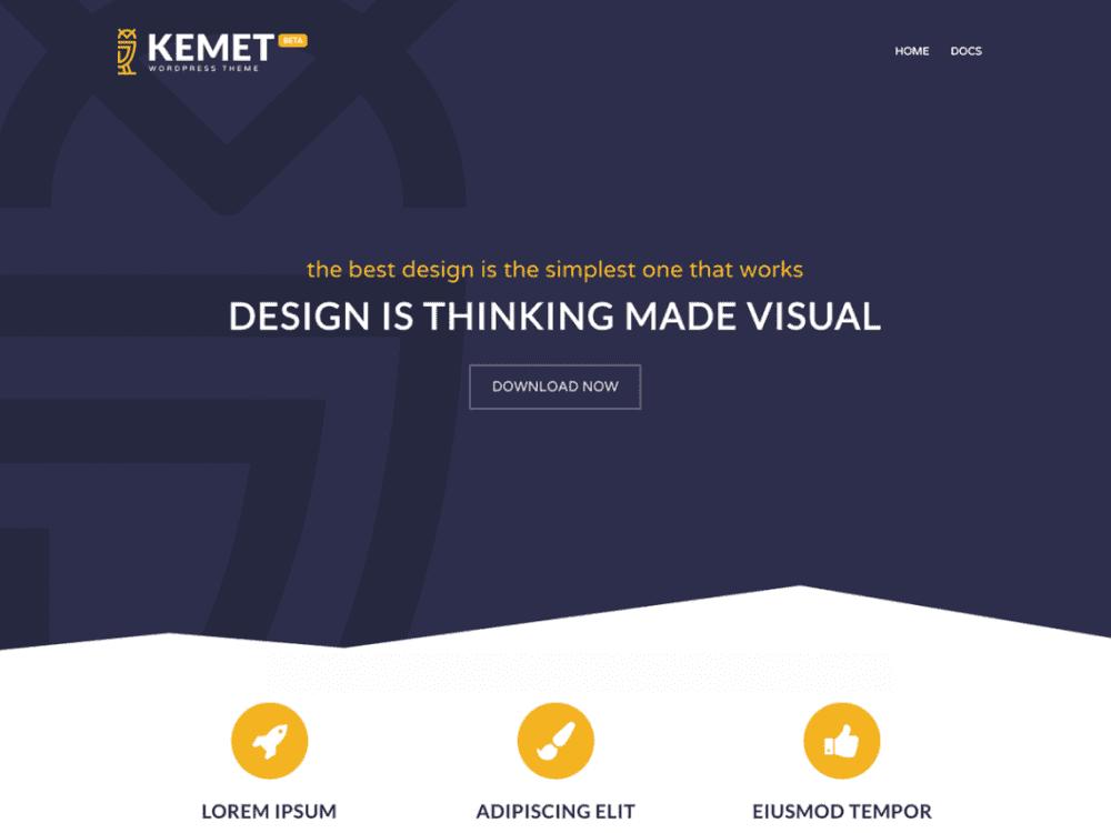 Free Kemet WordPress theme