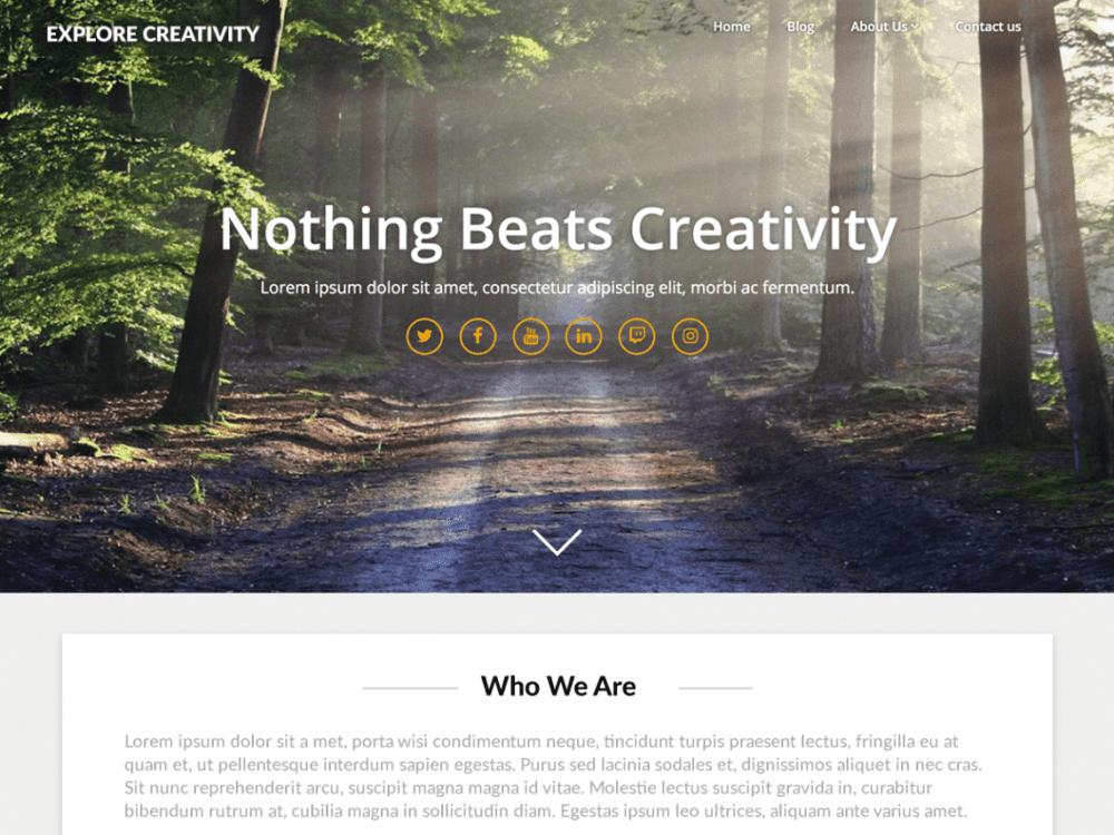 Free Landing Pageasy WordPress theme