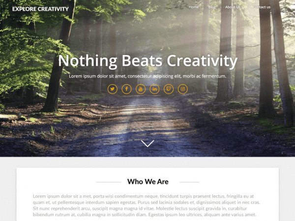 Free Landing Pageasy WordPress theme