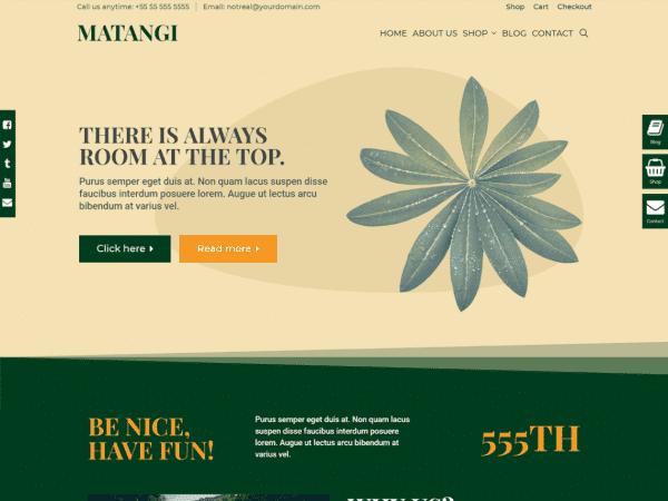 Free Matangi WordPress theme