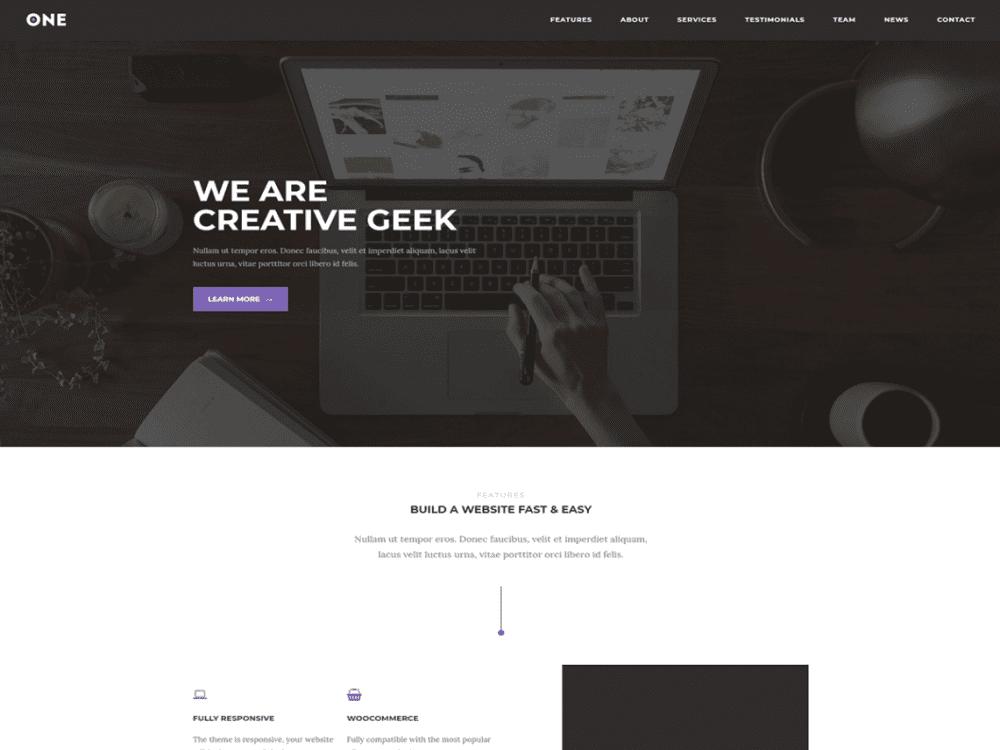 Free Meridian One WordPress theme