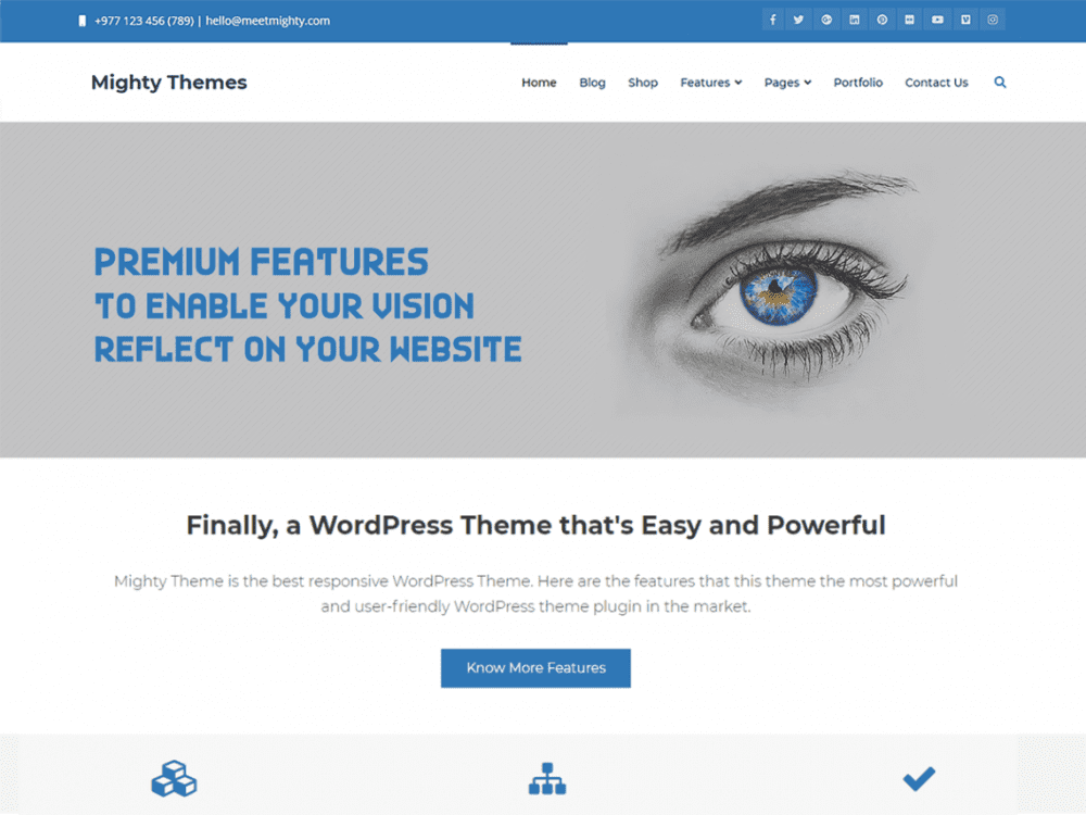 Free Mighty WordPress theme