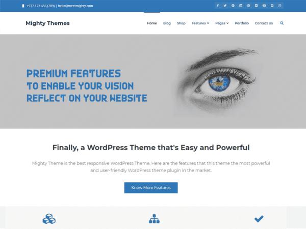 Free Mighty WordPress theme