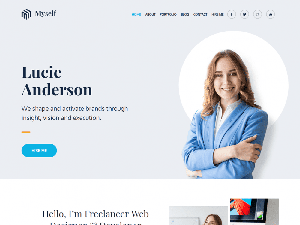 Free Myself WordPress theme