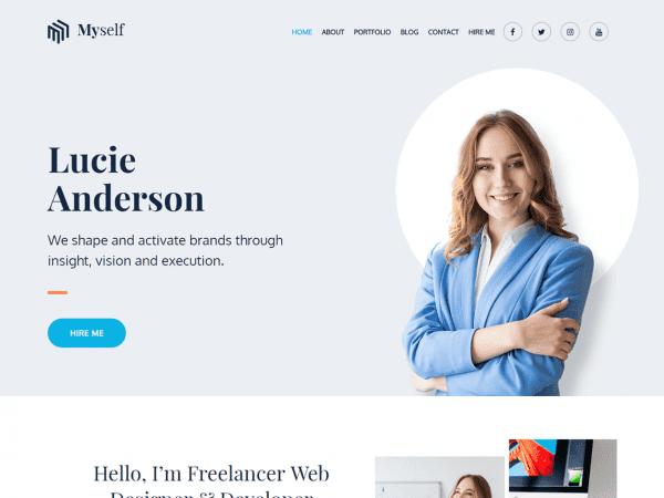 Free Myself WordPress theme