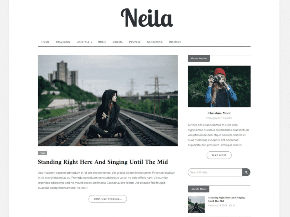 Free Neila WordPress theme