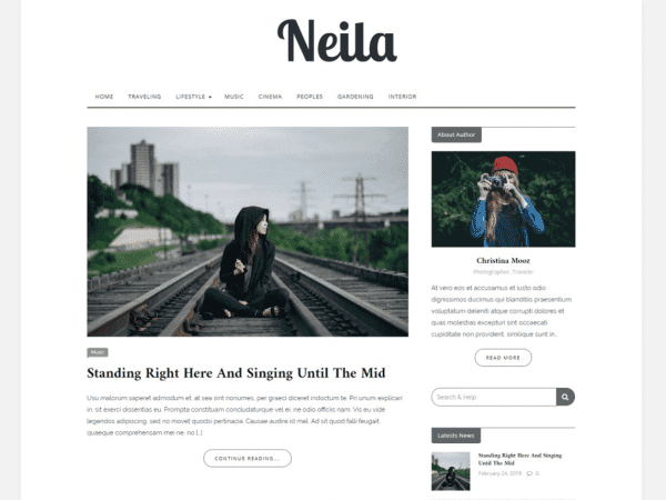 Free Neila WordPress theme