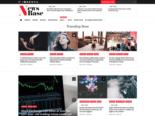 Free News Base WordPress theme