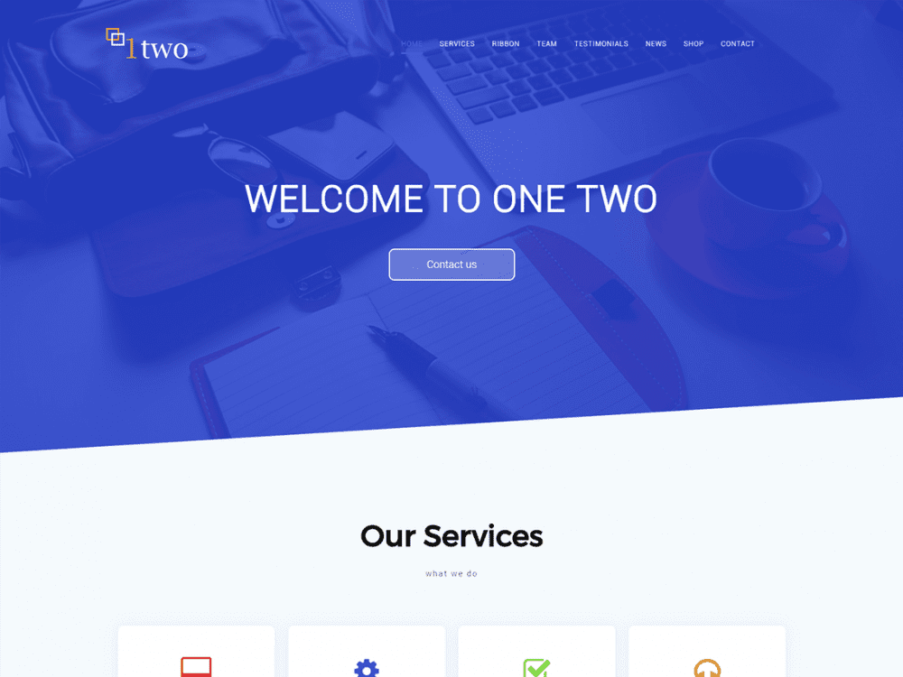 Free One Two WordPress theme