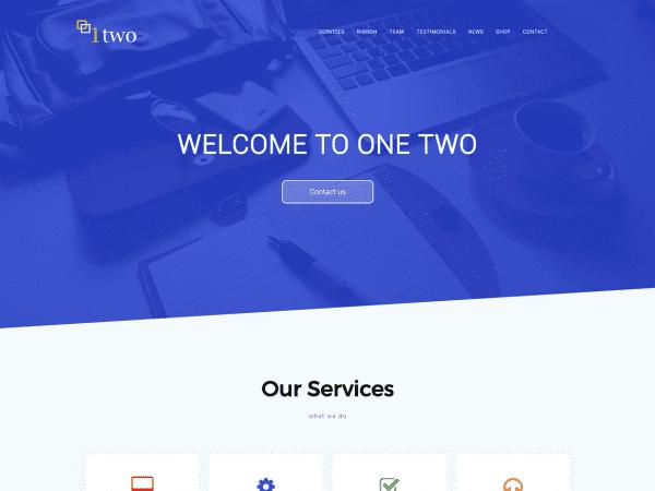 Free One Two WordPress theme