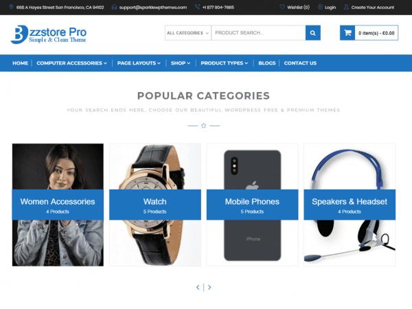 Free Online eCommerce WordPress theme