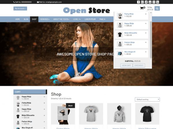 Free Open Store WordPress theme