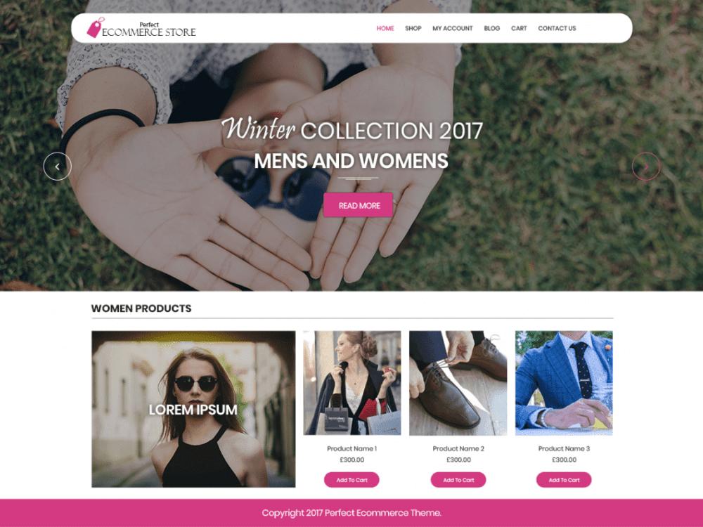 Free Perfect Ecommerce Store WordPress theme