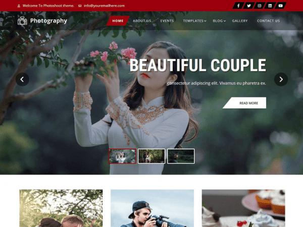 Free Photoshoot Lite WordPress theme