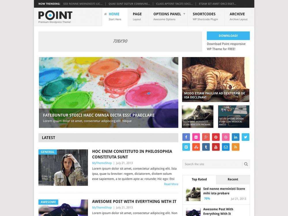 Free Point WordPress theme