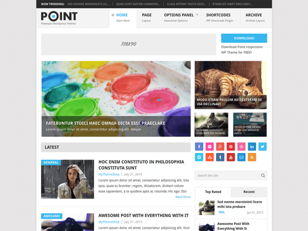 Free Point WordPress theme