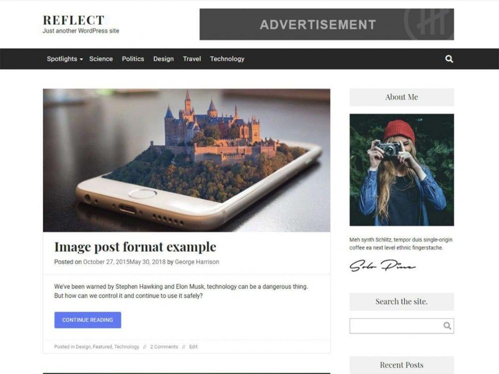 Free Reflect WordPress theme