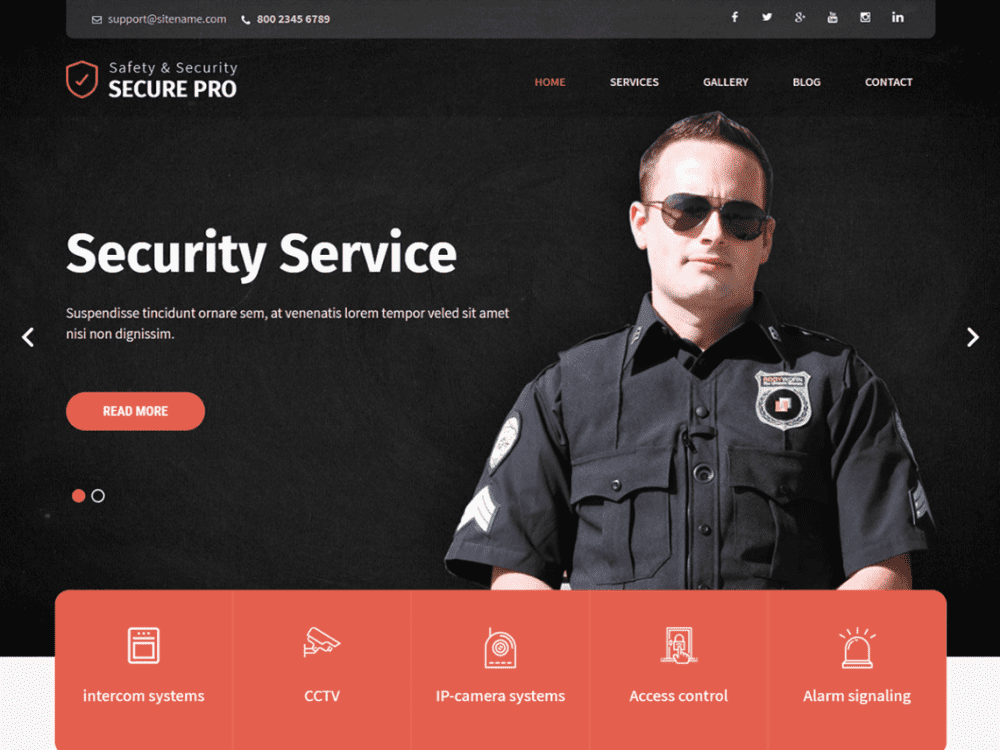 Free SKT Secure WordPress theme