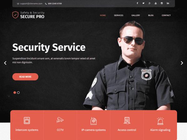 Free SKT Secure WordPress theme