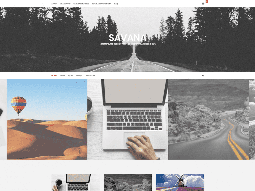 Free Savana Lite WordPress theme