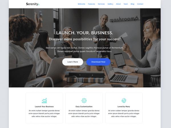 Free Serenity Lite WordPress theme