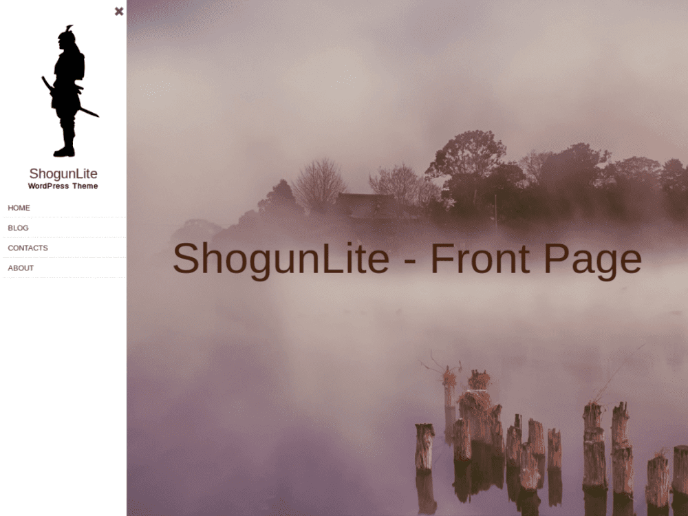 Free ShogunLite WordPress theme